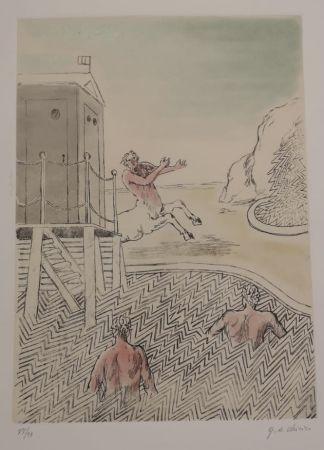 エッチングと アクチアント De Chirico - L'ARRIVO DEL CENTAURO