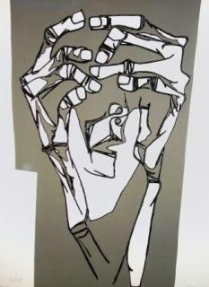 彫版 Guayasamin - Las manos del terror