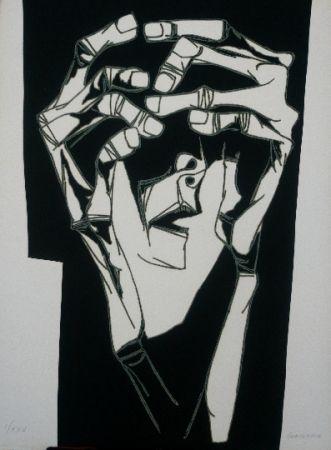 彫版 Guayasamin - Las manos del terror variante