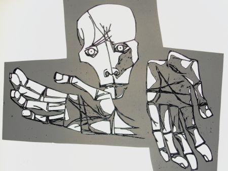 彫版 Guayasamin - Las manos desoladas
