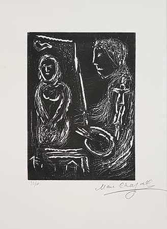 リノリウム彫版 Chagall - L'Atelier