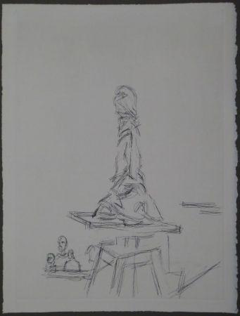 エッチング Giacometti - L'Atelier à la selette I. (Studio with the turntable)