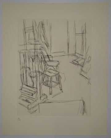 彫版 Giacometti - L'Atelier au chevalet (Studio with the Easel)