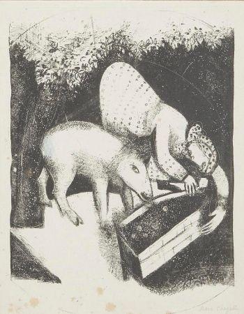 リトグラフ Chagall - L'auge