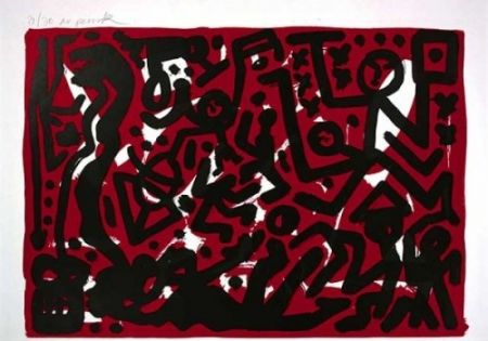 リトグラフ Penck - Lausanne 2 Aber Hallo