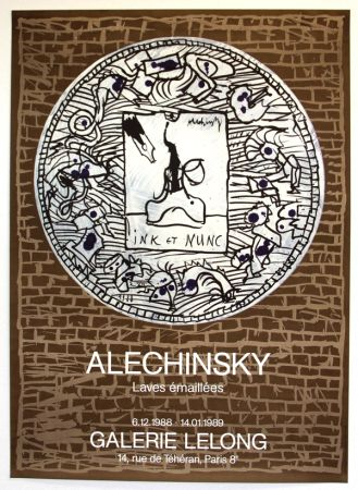 リトグラフ Alechinsky - Lave Emaillée  Galerie Lelong