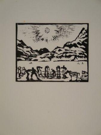 木版 Giacometti - Lavoratori del ghiaccio, die Eisbrecher