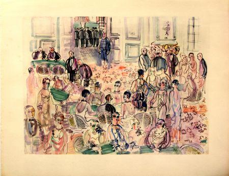 リトグラフ Dufy - Le Baccarat  à  Deauville