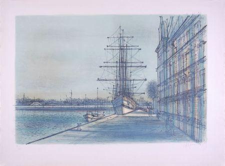 リトグラフ Carzou - Le Bateau école à Venise