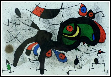 リトグラフ Miró - LE BELIER FLEURI
