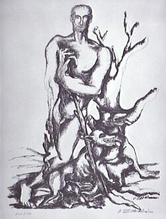 リトグラフ Zadkine - Le berger de Gerion