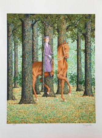 リトグラフ Magritte - Le Blanc-Seing