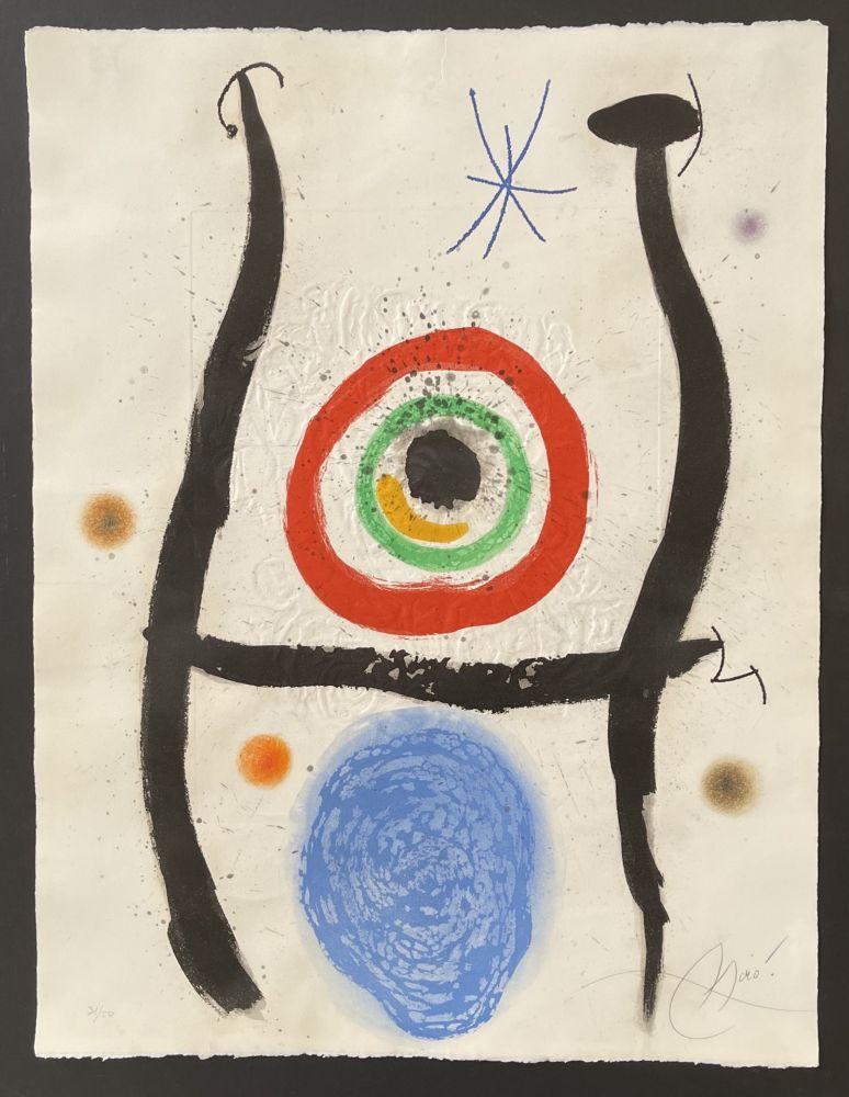 エッチングと アクチアント Miró - Le Bleue de la Cible