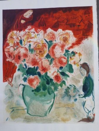 リトグラフ Chagall - Le Bouquet