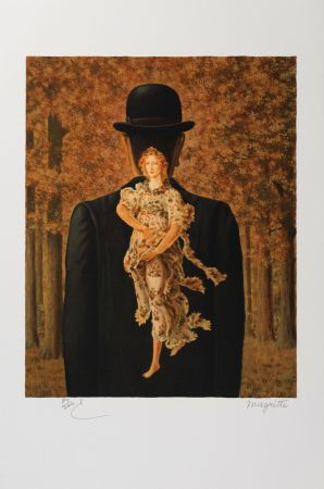 リトグラフ Magritte - Le Bouquet