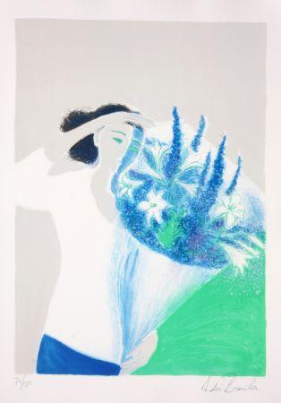 リトグラフ Brasilier - Le Bouquet Bleu