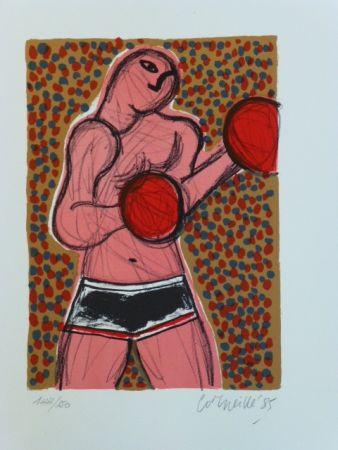 リトグラフ Corneille - Le Boxeur