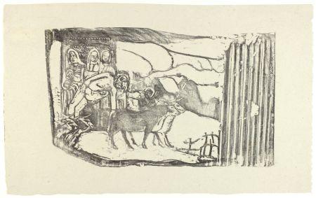 木版 Gauguin - Le Calvaire Breton