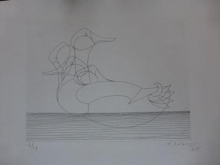 エッチング Lalanne - Le canard