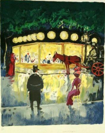 リトグラフ Van Dongen - Le Carrousel Au Bois De Boulogne