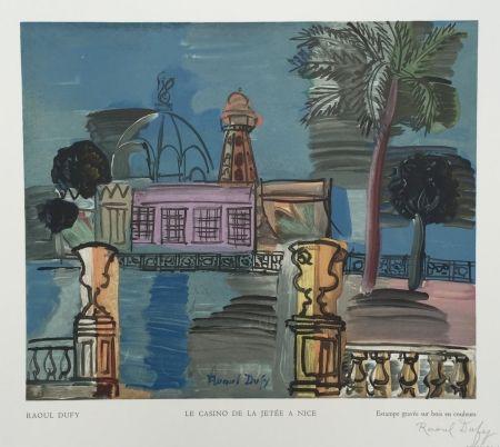 木版 Dufy - Le Casino de la Jetée à Nice