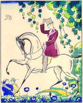 ステンシル Bonfils - Le cavalier