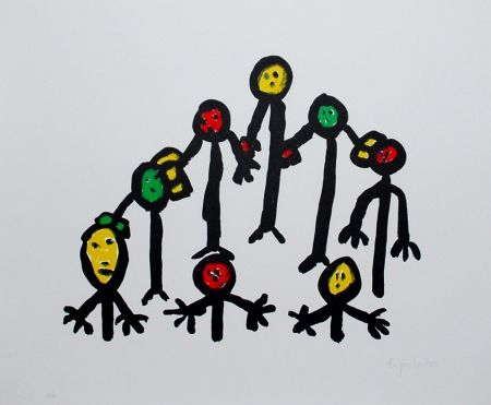 リトグラフ Ionesco - Le cercle familial