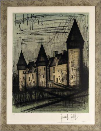 リトグラフ Buffet - Le château de Culan