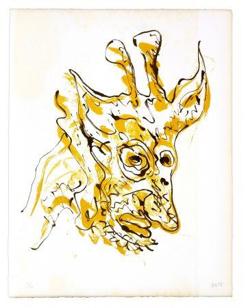 リトグラフ Grinberg - Le changement en girafe