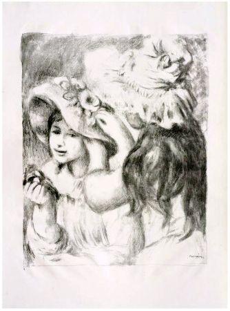 リトグラフ Renoir - LE CHAPEAU ÉPINGLÉ (1898). 2e planche.