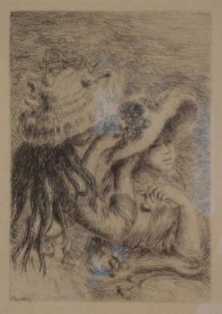 彫版 Renoir - Le Chapeau Épinglé. La Fille de Berthe Morisot et sa Cousine.
