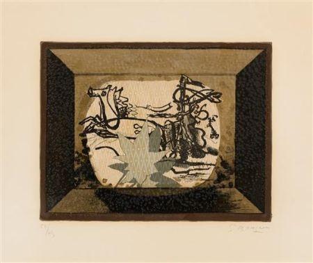 リトグラフ Braque - Le Char (The Chariot III)