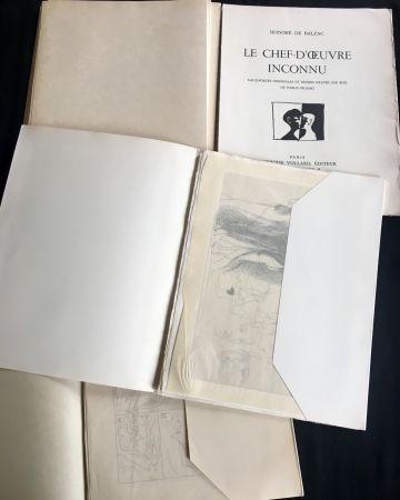 挿絵入り本 Picasso - LE CHEF-D'ŒUVRE INCONNU. Eaux-fortes originales de Pablo Picasso (exemplaire sur Japon signé avec suite. 1931).