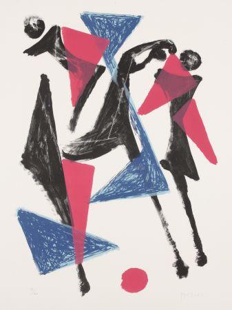 リトグラフ Marini - Le Cheval au Manege