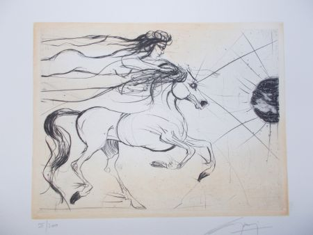 彫版 Guiny - Le cheval et la femme
