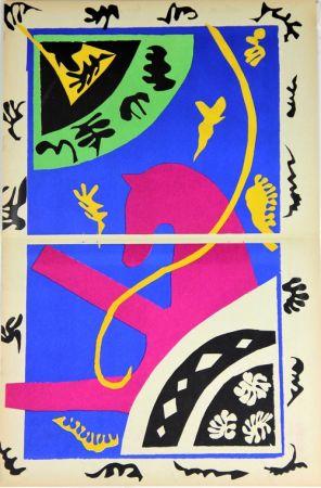 リトグラフ Matisse - Le Cheval L'ecuyere Et Le Clown De La Serie Jazz