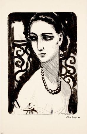 リトグラフ Van Dongen - Le Collier de Perles