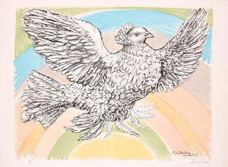 リトグラフ Picasso - Le Colombe Volant