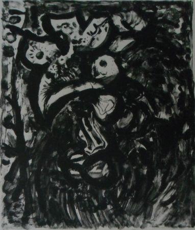 リトグラフ Pignon - Le coq