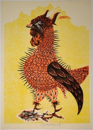 リトグラフ Lurcat - Le Coq rouge