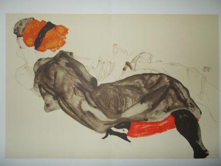 リトグラフ Schiele - Le couple