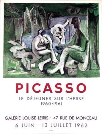 リトグラフ Picasso - Le Dejeuner Sur L'herbe  Galerie Louise Lieris