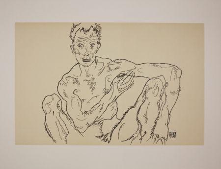 リトグラフ Schiele - LE DERNIER AUTOPORTRAIT / THE LAST SELF-PORTRAIT - 1918