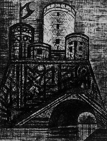 エッチング Gromaire - Le donjon de Dunsinane