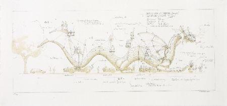 リトグラフ Delarozière - Le dragon