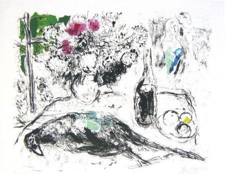 リトグラフ Chagall - Le faisan