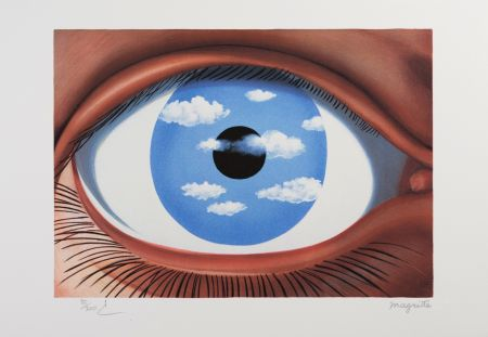 リトグラフ Magritte - Le Faux Miroir (The False Mirror)