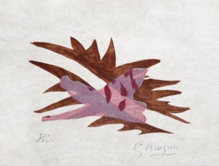 リトグラフ Braque - Le Feuille Morte From Lettera Amorosa, 1963