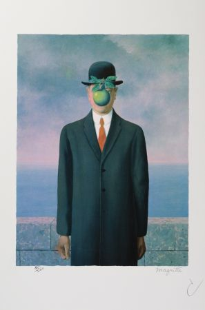 リトグラフ Magritte - Le Fils De L'Homme (The Son Of Man)