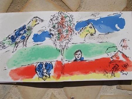 リトグラフ Chagall - Le fleuve vert